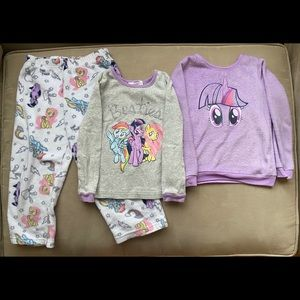 My Little Pony Toddler Girl Pajama Set Size 4T